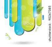 blue and green background with... | Shutterstock .eps vector #90267385