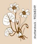 field flower silhouette on...   Shutterstock . vector #90268249