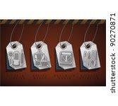 everyday kitchen utensils  ... | Shutterstock .eps vector #90270871