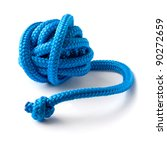 Ball Of Thick Blue Rope On...