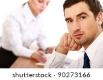 colleagues working together in... | Shutterstock . vector #90273166