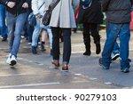 people crossing the street | Shutterstock . vector #90279103