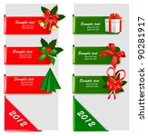 set of winter christmas banners.... | Shutterstock .eps vector #90281917