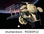 space station in outer space. | Shutterstock . vector #90283912
