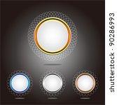 promotional label design | Shutterstock .eps vector #90286993