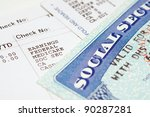 social security card with... | Shutterstock . vector #90287281