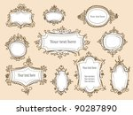hand drawn frames vector