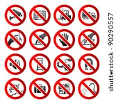 set ban icons prohibited... | Shutterstock .eps vector #90290557