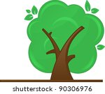 abstract green tree on white... | Shutterstock .eps vector #90306976