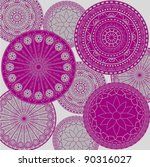 pattern   colored ornaments | Shutterstock .eps vector #90316027