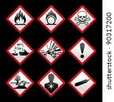 new safety symbols hazard signs ... | Shutterstock .eps vector #90317200