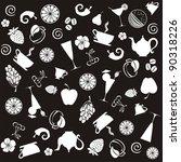 seamless food pattern. black... | Shutterstock . vector #90318226
