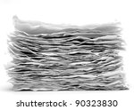 recycled paper. Series - stock photo