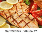 Grilled Pink Salmon With Lemon...