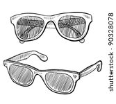 doodle style sunglasses vector... | Shutterstock .eps vector #90328078