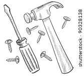 Doodle Style Tools Or Home...