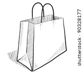 doodle style shopping bag... | Shutterstock .eps vector #90328177