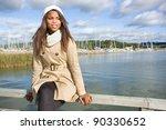 cute african american woman... | Shutterstock . vector #90330652