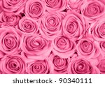 background image of pink roses | Shutterstock . vector #90340111