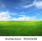 field on a background of the... | Shutterstock . vector #90342658