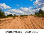 hot sand desert | Shutterstock . vector #90350317