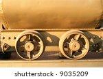 mining cart wheels  welded to... | Shutterstock . vector #9035209