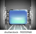 industrial iron background with ... | Shutterstock .eps vector #90353968