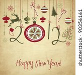 2012 happy new year background. | Shutterstock .eps vector #90356161