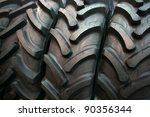 brand new tractor tires placed...   Shutterstock . vector #90356344