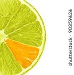 lemon slice with unique orange... | Shutterstock . vector #90359626