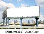 Blank Billboard With Cityscap...