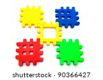 puzzle piece isolated on white...   Shutterstock . vector #90366427
