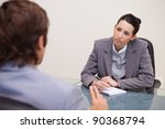 young businesswoman taking... | Shutterstock . vector #90368794