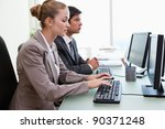 business people working with...   Shutterstock . vector #90371248