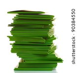 many green folders isolated on... | Shutterstock . vector #90384550