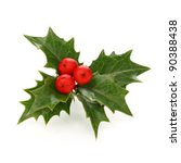 holly berry sprig  christmas... | Shutterstock . vector #90388438