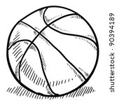 Doodle style basketball vector illustration - stock vector