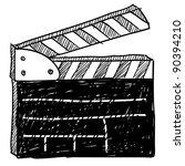 doodle style movie set...   Shutterstock .eps vector #90394210