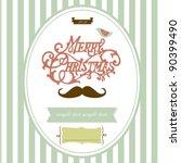 vintage christmas template | Shutterstock .eps vector #90399490