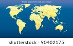 world map 2011 including new... | Shutterstock .eps vector #90402175