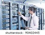 young engeneer business man... | Shutterstock . vector #90402445