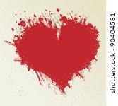 Ink Blot Look Like Heart
