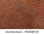 tooled floral pattern in brown... | Shutterstock . vector #90408925