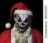 Scary Santa Clown Glaring At...