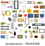 collection of many objects... | Shutterstock . vector #90445348