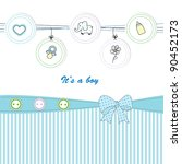 cute baby background on... | Shutterstock .eps vector #90452173