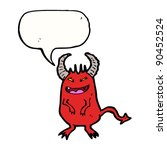sneaky devil with speech bubble ... | Shutterstock .eps vector #90452524