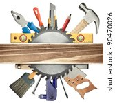 carpentry background. tools... | Shutterstock . vector #90470026
