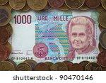 Old Italian Banknote   1000...