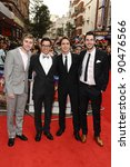 Small photo of James Buckley, Simon Bird, Joe Thomas and Blake Harrison arriving for The Inbetweeners, The Movie, film premiere at the Vue Leicester Square, London. 16/08/2011 Picture by: Steve Vas / Featureflash